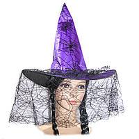 Шляпа Ведьмы с паутиной (фиолетовая)