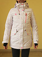 Куртка зимняя женская Azimut 8220-134 белый с розовым код 2082А