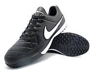 Футбольные сороконожки Nike Tiempo Genio TF Black/White, фото 1