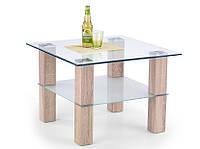 Журнальный столик Halmar Amelia 70x70 дуб сонома с квадратной столешницей