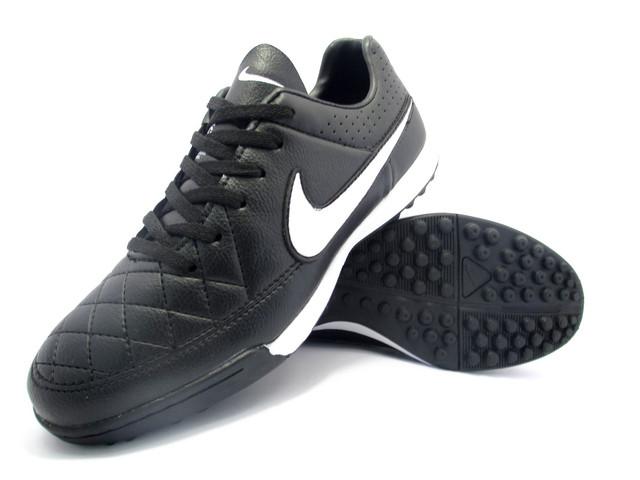 Футбольные сороконожки Nike Tiempo Genio TF Black/White