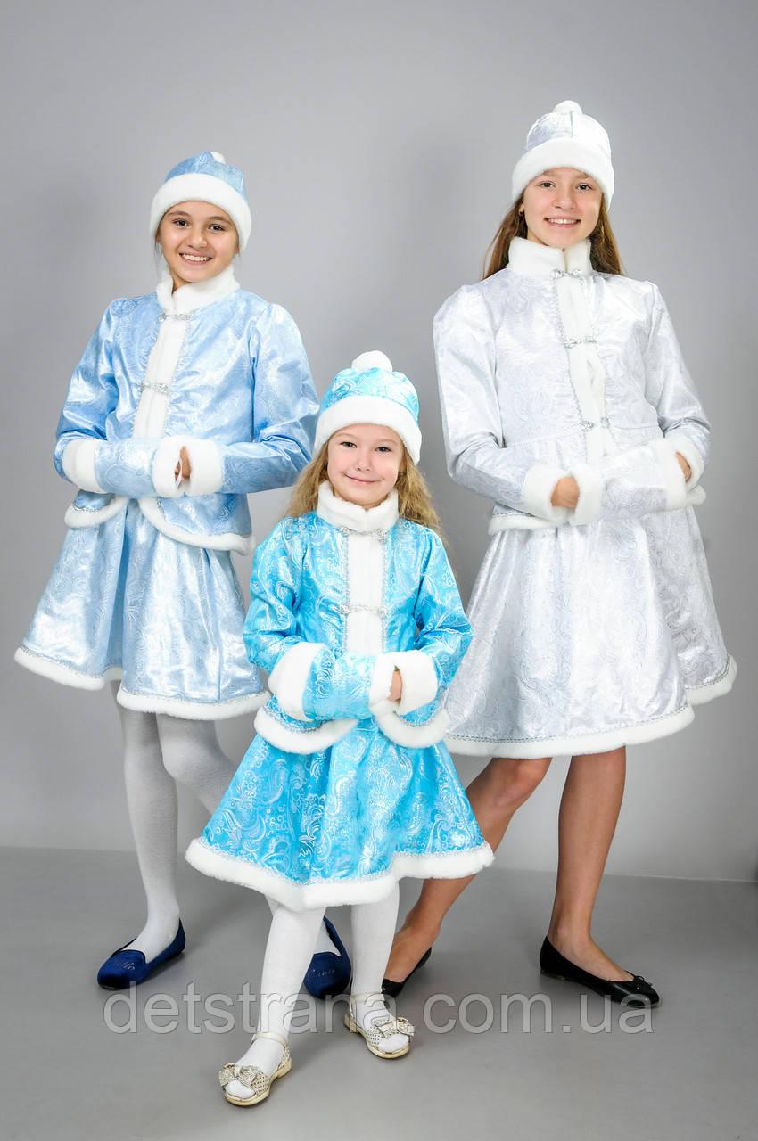 Детский карнавальный костюм Снегурочки -