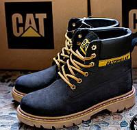 Ботинки женские Caterpillar CAT высокие черные