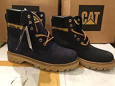Ботинки женские Caterpillar CAT высокие черные топ реплика, фото 3