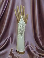 Свадебные перчатки айвори