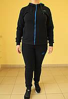 Женский тёплый спортивный костюм N 7708 темно-синий код 2051А