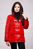 Куртка женская двухцветная на синтепоне осень-весна SY - 04 ( цвет красный )