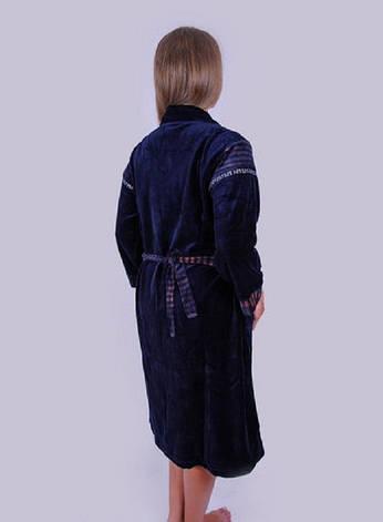 Велюровый халат с воротником, фото 2