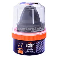Крем-блеск для обуви Action 50ml пластмассовая банка (чёрный)