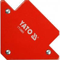 Угол магнит для сварки (угольник сварщика) YATO 82х120х13 мм 11,5 кг (YT-0863)