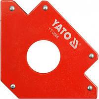 Струбцина магнітна для зварки YATO 122х190х25 мм 34,0 кг (YT-0865)