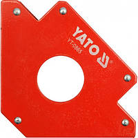 Угольник магнитный (струбцина) для сварки YATO 122х190х25 мм 34,0 кг (YT-0865)