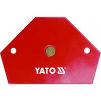 Струбцина магнитная для сварки YATO 64х95х14 мм 11,5 кг (YT-0866)
