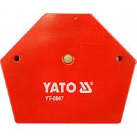 Струбцина магнитная для сварки YATO 111х136х24 мм 34,0 кг (YT-0867)