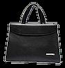 Сумка-портфель женская из искусственной кожи черного цвета DOP-826983