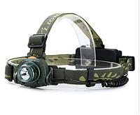 Налобный фонарик/ліхтар CREE 3W сенсорный для рыбалки