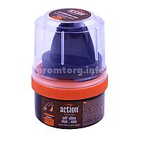 Крем-блеск для обуви Action 50ml пластмассовая банка (коричневий)
