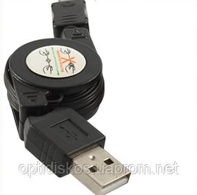 Кабель Рулетка USB-micro USB, CL1645, фото 2