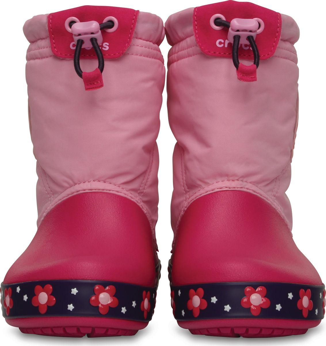 26e8c7bc6 ... Сапоги зимние для девочки Crocs Kids CrocsLights LodgePoint Night Owl  Boot / непромокаемые светящиеся Сова, ...