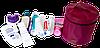 Круглый органайзер для косметики ORGANIZE (винный), фото 6