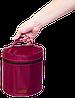 Круглый органайзер для косметики ORGANIZE (винный), фото 3