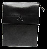 Мужская сумка черного цвета из искуcственной кожи Langsa CМ-40, фото 1