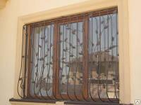 Решетка на окно кованая арт.кр 44, фото 1