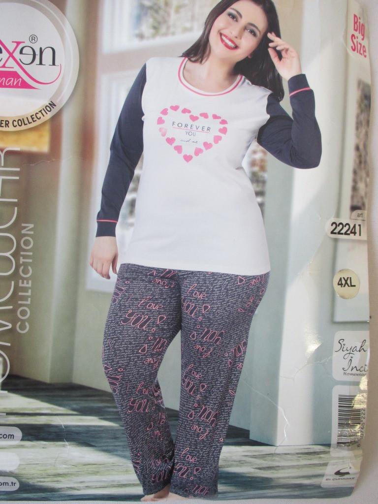 ace9620fccf4f Турецкие пижамы большого размера. - Оптом-дешевле в Хмельницком