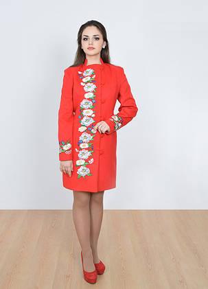 Купить дешево Пальто женское с вышивкой