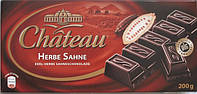 Немецкий горький шоколад Chateau Herbe Sahne, черный 200г., фото 1