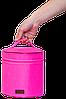 Вместительная круглая косметичка ORGANIZE (розовый), фото 3