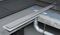 Душевой канал 70х585мм с вертикальным выпуском, без сифона, с фланцем