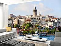 "Фотообои ""Башня Галата в Стамбуле"", текстура песок, штукатурка"