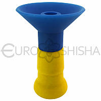 Силиконовая чаша для кальяна Euroshisha, BS 10, желто-синяя