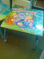 Набор детской мебели G002-292 (детский столик и стульчики), дерево. КИЕВ