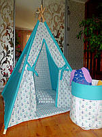 "Детский игровой домик, вигвам, палатка, шатер, шалаш, вігвам, дитячий будинок ""Якоря"""