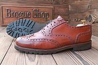 +Мужские туфли броги Hilton, made in England, 29 см, 44 размер. Код: 027.
