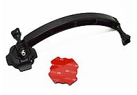 Поворотне кріплення на шолом, винос, подовжувач Arm mount для екшн-камер GoPro, SJCAM, Xiaomi