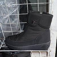 Жіночі зимові вкорочені чоботи-дутіки