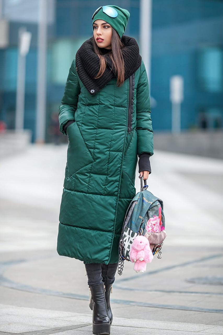 Длинное женское пальто еврозима