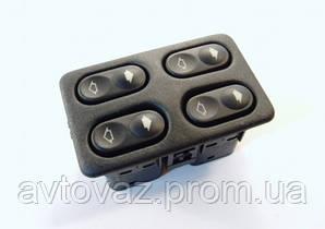 Блок кнопок управління склопідйомниками 4 кнопки ВАЗ 2110, ВАЗ 2111, ВАЗ 2112 АВАР
