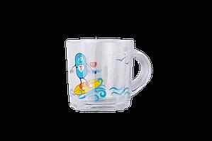 """Чашка стеклянная """"Супертаблеточка на море"""""""