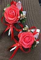 Набор (2 шт) бутоньерка для жениха, свидетелей, родителей,гостей