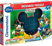 Пазл с мелом и ластиком Clementoni Message Клуб Микки Мауса 104 элемента (20232)