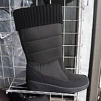Жіночі зимові чоботи-дутіки з резинкою