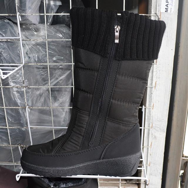Жіночі зимові чоботи-дутіки з резинкою  8bab52d58bac9