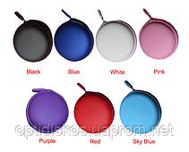 Футляр (чехол) для наушников, голубой, фото 2