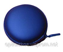 Футляр (чехол) для наушников, голубой, фото 3