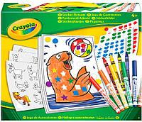 Набор для творчества Crayola с наклейками и фломастерами (04-6801)