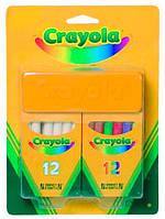 Набор мелков Crayola белые и цветные с губкой (98268)